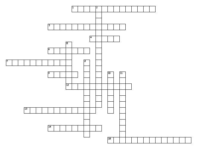 2014 March Crossword puzzle