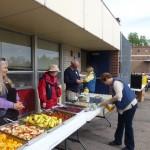 O'Dea - setting up the food line