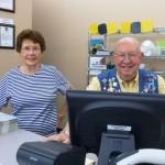 Irene and Harold cashiering at Bingo