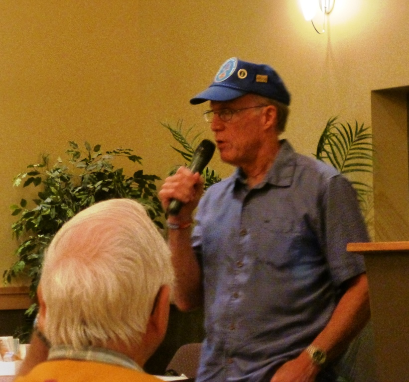 Ken Curry, US Air Force Veteran, spoke about some of his experiences while flying 157  B-52 missions in South East Asia.