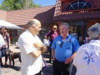 DG Ken Moore and other Lions visit the open house