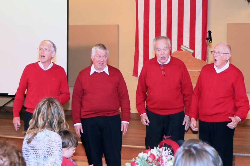 Loveland Barbershop Quartet entertain Lions