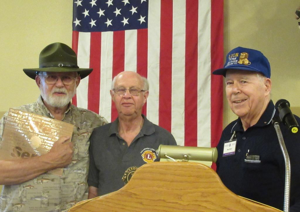 Lions Bob Kitchell and Dave Mendenhall also received certificates for their service