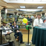 David and Katie witnessing book signing
