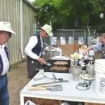 Alex, Wayne, and Tobey cooking