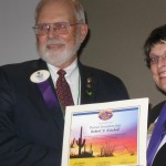 Bob Kitchell - new District Governor and International Director, Patti Hill