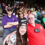 Rockies game - Neal and Lauren, Salvation army captain and daughter