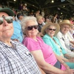 Warren, Thelma, Luetta, and Lee at the Rockies game