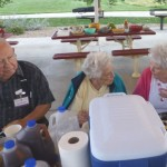 Harold and Ruby Hartmann and Jan Crownhart