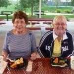 Irene Toliver and Faye Lockner