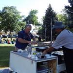 Lions Jim Trupp and David Lambertson cooking cakes