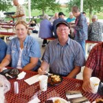 Wanda Groenendale, Mary and Ken Fields, and Lion Jim