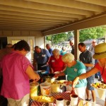 The buffet line was a big hit – lots of good side dishes and barbeque from Hog Wild!