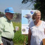 Pancake guru Bill Funke and Judy Scherpelz, RMRP director