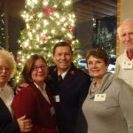Maxine Duval, Adela Braga and Captain Isaias Braga, and Lauren and Neal Hopkins