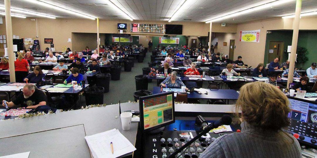 Bingo players having fun at Lions Bingo