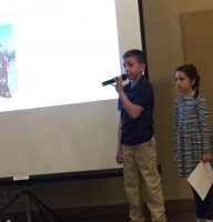 Brady and Julliet give program at our meeting